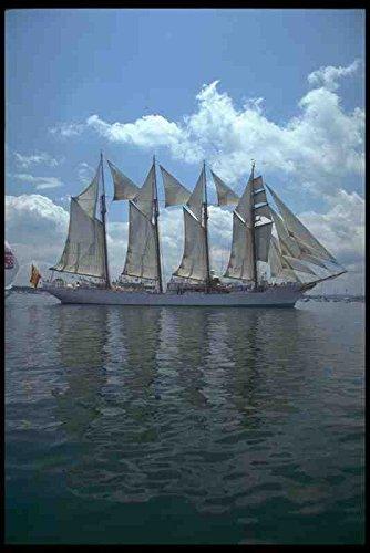 Muestra del Metal alto barcos De vela barco 257098 Juan Sebastian Elcano De cuatro paquebote España A4 12 x 8 aluminio