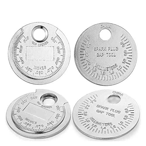 HHDZ Thdzcp. Strumento del misuratore del Gap della Candela da 1pc per misurare l'acciaio in Lega Solido 0.6-2.4mm Tipo di Moneta Portata Candelare (Color : 4 PCS)