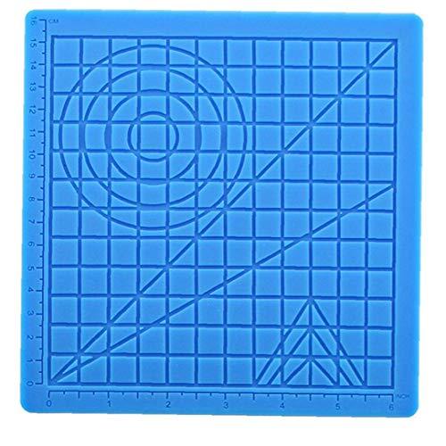 ZYCX123 3D-Druck-Silikon-Malerei Mat Zeichenbrett 3D Pen Mat 3D Pen Stencils Buch 3D-Pen Zeichenwerkzeuge Blau 2ST