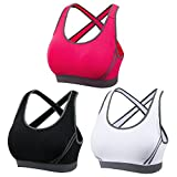 DODOING Women Jogging Sports Blockout Bra Vest Gymwear Fitness Crop-top Yoga Exercise Tank