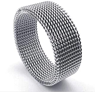 Mesh Fashion Unique Design Silver Men Ring