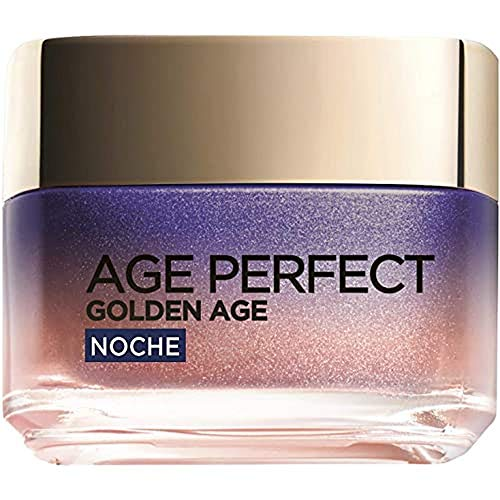 L'Oréal Paris Age Perfect Golden Age Crema de Noche Fortificante, Antiflacidez y Luminosidad, Pieles Maduras, 50 ml