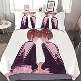 TIANAIS Juego de ropa de cama de 3 (1 funda, 2 fundas de almohada sin sábana) Cardcaptor SAKURA 258 3d juego de cama de matrimonio