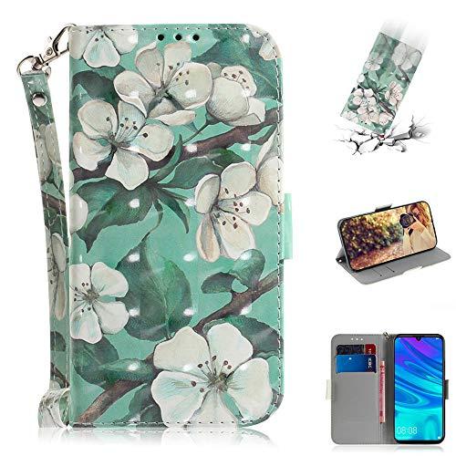 Capa tipo carteira XYX para iPhone 11 Pro, [Al?a de pulso] Capa protetora tipo carteira de couro PU colorida para iPhone 11 Pro 5,8 polegadas (flor em aquarela)