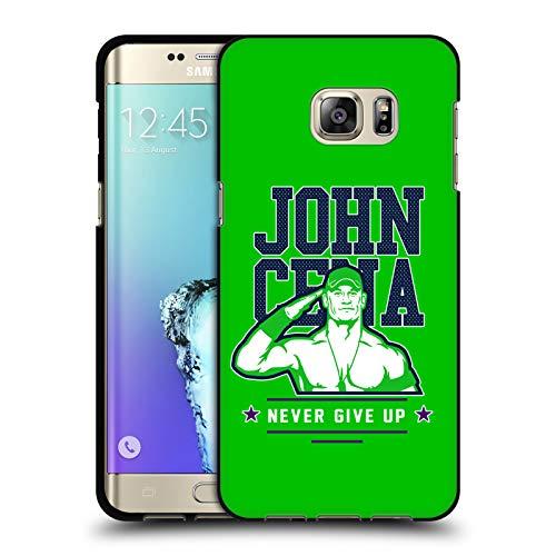 Head Case Designs Offizielle WWE John Cena Never Give Up 2 2018/19 Superstars 4 Schwarze Soft Gel Huelle kompatibel mit Samsung Galaxy S6 Edge+ / Plus
