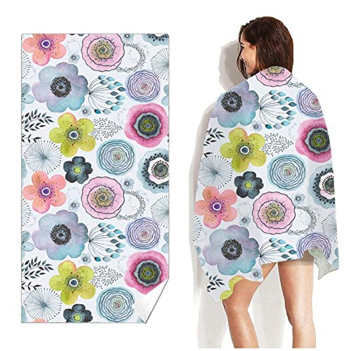 XCHJY 160cm*80cm Beach Towel Quicky-dry Microfiber Bath Towels Beach Cushion Summer Towels No Sand Portable Yoga Mat Beach Towel (Color : 22, Size : 160x80cm)