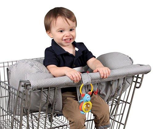 %12 OFF! Leachco Prop 'R Shopper Shopping Cart Cover, Gray Pin Dot