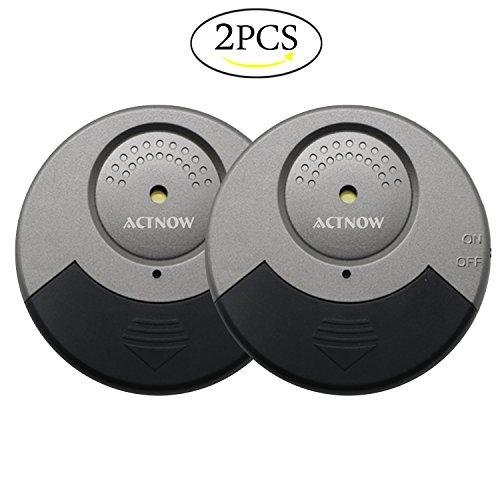 2 Stück Mini Fensteralarm, ACTNOW 105db Laut Glasbruchalarm Drahtloser Glasbruchmelder mit Vibrationssensoren