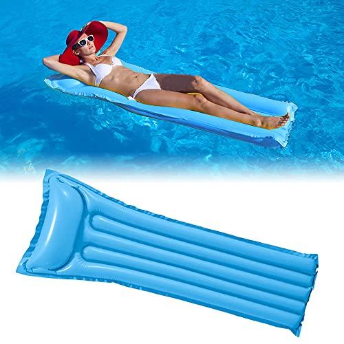 DEEPOW Wasser Hängematte-Aufblasbar Schwimmring Schwimmende Reihe Pool Luftmatratze Matratze Matratzen Strandmatte Floating Lounge Stuhl für Erwachsene und Kinder. (Blau)