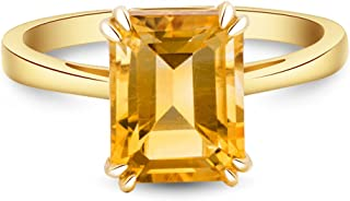 Best emerald cut citrine ring yellow gold Reviews