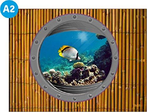 pool-design.eu Verkleidung Pool * Aufkleber Außenwand * Swimmingpool Dekoration Außen * Designbecken * Meer A2 * Höhe: 90 cm
