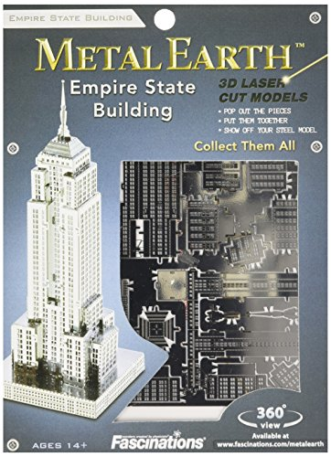 Fascinations Metal Earth MMS010 - 502558, Empire State Building, constructiespeelgoed, 1 metalen plaat, vanaf 14 jaar