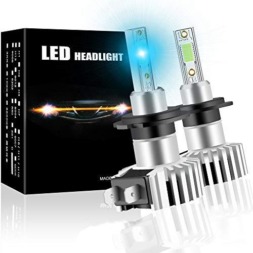 2X Lampadine H7 LED 12000LM,Fari Abbaglianti o Anabbaglianti per Auto 12V 60W Blu Kit faro a LED sostituzione lampada alogena e lampada allo xeno