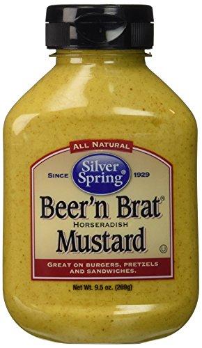 Silver Springs Mustard Beer & Brat 9.5 Oz, Pack of 4