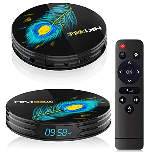 YP Android 11.0 TV Box【4GB+32/64GB】 TV Box Android with WiFi-Dual 2.4G + 5G Bluetooth USB 3.0 Smart TV Box Ultra HD 8K HDR Support U Disk/TF Card for Home Entertainment