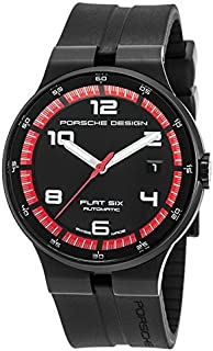 腕時計 Porsche Design Flat Six Automatic Black PVD Steel Mens Watch Calendar 6351.43.44.1254 [並行輸入品]