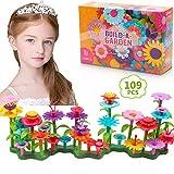 DigHealth Flores Juguete para Niñas, 109 PCS Jardín Flores Playset Regalos, Juego Creativos de Construcción de Floral para Niñas y Niños de 3-6 años