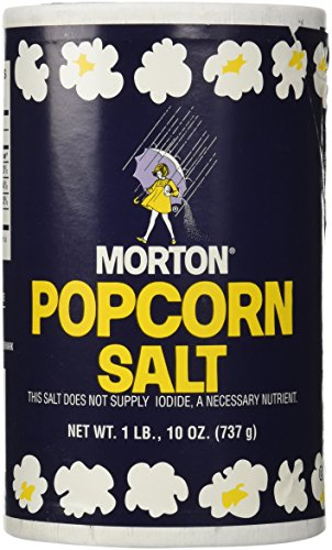 1Lb 10oz Morton Popcorn Salt For Green Salad, Corn on the Cob, French Fries, Nuts