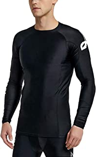 LAFROI Mens Long Sleeve UPF 50+ Baselayer Skins Performance Fit Compression Rash Guard