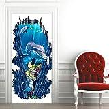 3D Vinilos Para Puertas Pegatinas Decorativas de Puerta Autoadhesiva Extraíble de Mural PVC Poster de Pared para Puerta...