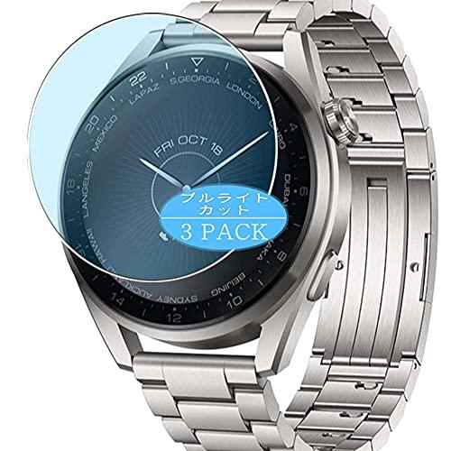 VacFun 3 Piezas Filtro Luz Azul Protector de Pantalla, compatible con Huawei Watch 3 Pro, Screen Protector Película Protectora(Not Cristal Templado)