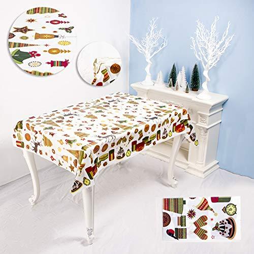 Romsion Home Voor Wegwerp Kerstmis Serie Rechthoekig Gedrukt PVC Cartoon Tafelkleed 110x180cm