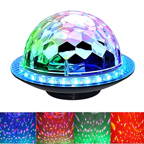 Altavoces Bluetooth para discoteca, DJ Night Light Wireless Bluetooth con luz dinámica...