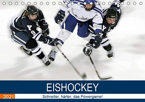 Eishockey! Schneller, härter, das Powergame! (Tischkalender 2021 DIN A5 quer)