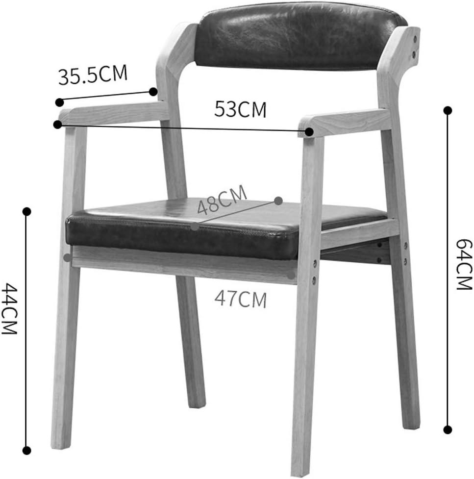 SLL- Chaise de Salle, Chaise de Bureau Simple, créative Dossier, Chaise Loisirs, Maison Adulte Chaise de Salle Moderne (Color : Khaki) Khaki