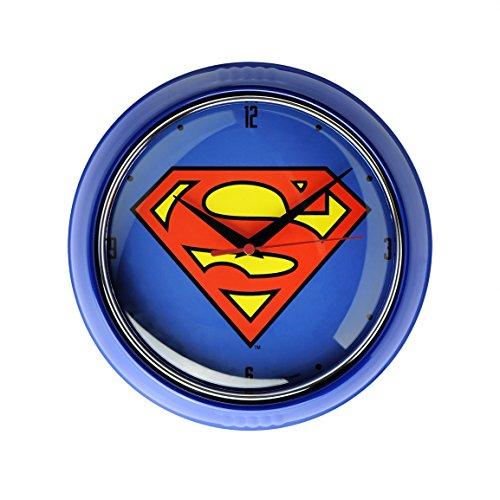 LOGOSHIRT - DC Comics - Superman Retro - Wanduhr - Küchenuhr - 8130474091