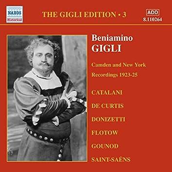 Gigli, Beniamino: Gigli Edition, Vol.  3: Camden and New York Recordings (1923-1925)