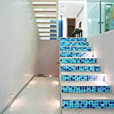 FCFLXJ Personalisierte Mosaik Treppe Treppe Schritte Landschaftsbau Dekoration Wohnzimmer 3D