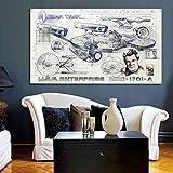 Hechuyue Star Trek Space Film Affiche Toile Peinture Famille Salon Chambre Murale Art Perdu Peinture Espace Photo Cuisine 40x50 cm