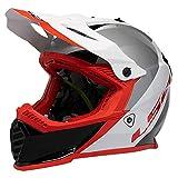 LS2 Helmets Gate Launch Full Face Helmet (Gloss White/Red/Black - Large)