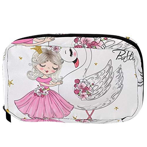 Neceser de Maquillaje Estuche Escolar para Cosméticos Bolsa de Aseo Grande Cisne de Ballet niña