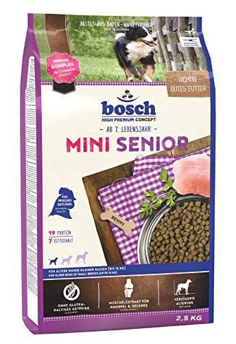 bosch HPC Mini Senior | Alimento seco para perros mayores de razas pequeñas (hasta 15 kg) | 1 x 2,5 kg