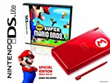 Nintendo DS Lite Limited Edition Red Mario with New Super Mario Bros....
