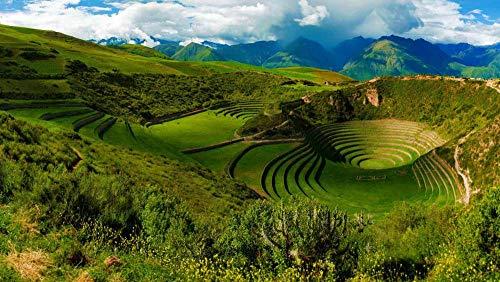 Puzzles For Adults 300 Pieces Puzzle Juguete De Madera Regalo Único, Morey Inca Ruins Near Maras, Peru (38 x 26 cm)