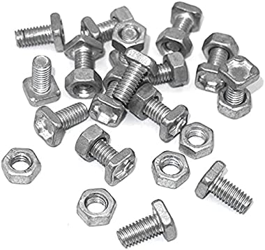 DOEKGE Greenhouse Nuts and Bolts Set, Square Head Bolts Hex Nuts, Multipurpose Repair Replacement Parts