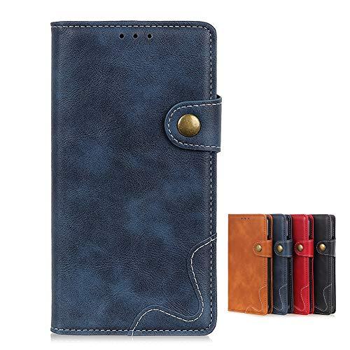 Brieftasche Schutzhülle für Vivo NEX 3S 5G Hülle mit Kartenfach Etui Standfunktion & Magnetisch Handyhülle Leder Flip Lederhülle für Vivo NEX 3S 5G (Blau)