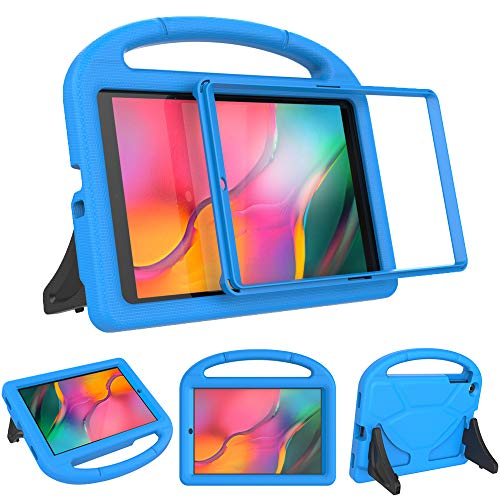 SINSO Kids Case with Built-in Screen Protector for Samsung Galaxy Tab A 10.1' 2019, Light Weight Shockproof Handle Stand Protective Kids Case for Galaxy Tab A 10.1 2019 (Model SM-T510/T515) - Blue