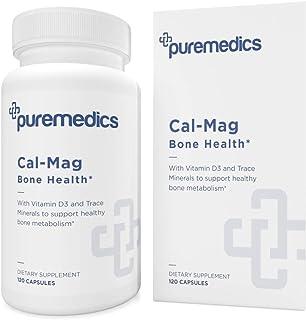 PUREMEDICS Cal Mag Zinc - Calcium Magnesium Zinc Capsules to Support Bone Health - with Trace Minerals and ...