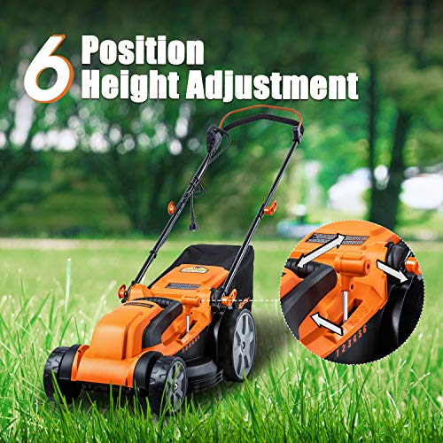 LawnMaster MEB1116K Electric Lawn Mower 16-Inch 12AMP