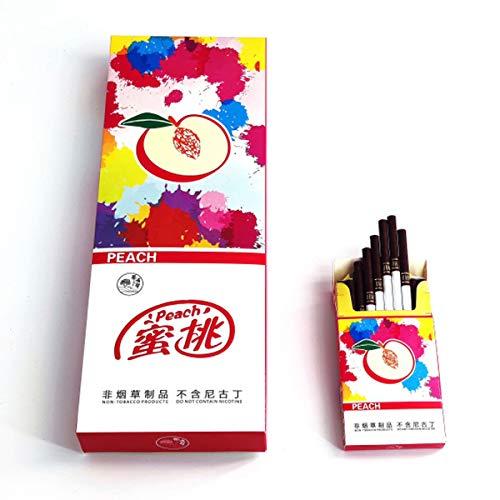 禁煙グッズ、中国茶 ハーブ・健康茶煙 茶タバコ ジャスミン茶 フルーツフラワーティー 白いお茶 ロンジン茶 緑茶 ニコチン0% 効果的に喫煙をやめる (桃, 1パック)