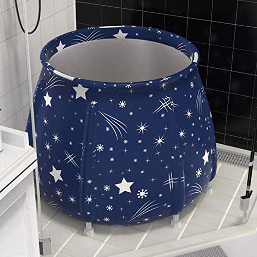 ZHS Bathtub Folding Bath Bucket Foldable Large Adult Tub Swimming Pool Insulation Separate Family Bathroom SPA Tub,Black