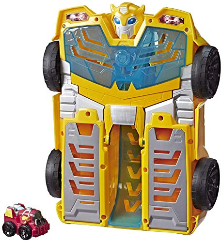 """Playskool Heroes Transformers Rescue Bots Academy Bumblebee Track Tower 14"""" Playset, 2-in-1 Converting Robot, Collectible Toys for Kids Ages 3 & Up"""