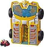 Playskool Heroes Transformers Rescue Bots Academy Bumblebee Track Tower 14' Playset, 2-in-1 Converting Robot, Collectible Toys for Kids Ages 3 & Up