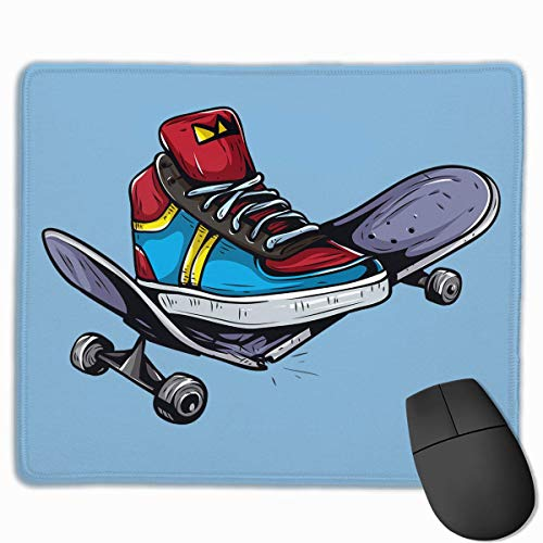 Smooth Mouse Pad Sportschuhe und Skateboard Mobile Gaming Mousepad Work Mouse Pad Office Pad
