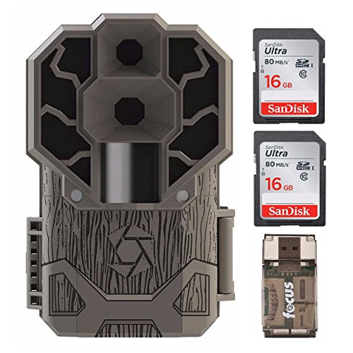 Stealth Cam Dual Sensor STC-DS4K Trail Camera, 30 MP/4K Ultra HD Video + Two 16GB Cards and Focus USB Reader