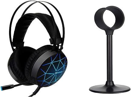 T&SHY Cuffie da Gioco Stereo 7.1, Auricolare da 50 mm Cuffie per la respirazione a Sette Colori Cuffie per la riduzione del Rumore Cuffie da 3,5 mm per la riduzione del Rumore,Headphones+Stand - Trova i prezzi più bassi
